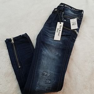 Rock Revival Size 27 Skinny Zip Moto Jeans